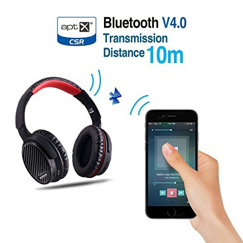 AUSDOM ANC7 Active Noise Cancelling Headphones Bluetooth V4.0 with Apt-X Technology,Inline Mic
