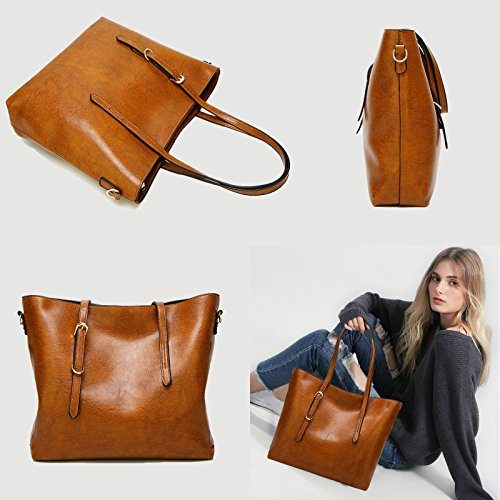 Shoulder Brown Satchel Tote Handbags a Ladies Designer TcIFE Women Bags for Brown nZTRYqwxg