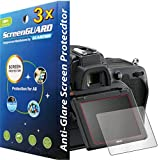 3x Nikon DSLR D750 D710 Premium Anti-Glare Matte Finish LCD Screen Protector Guard Kit, Exact fit, NO CUTTING (3 pieces by GUARMOR)
