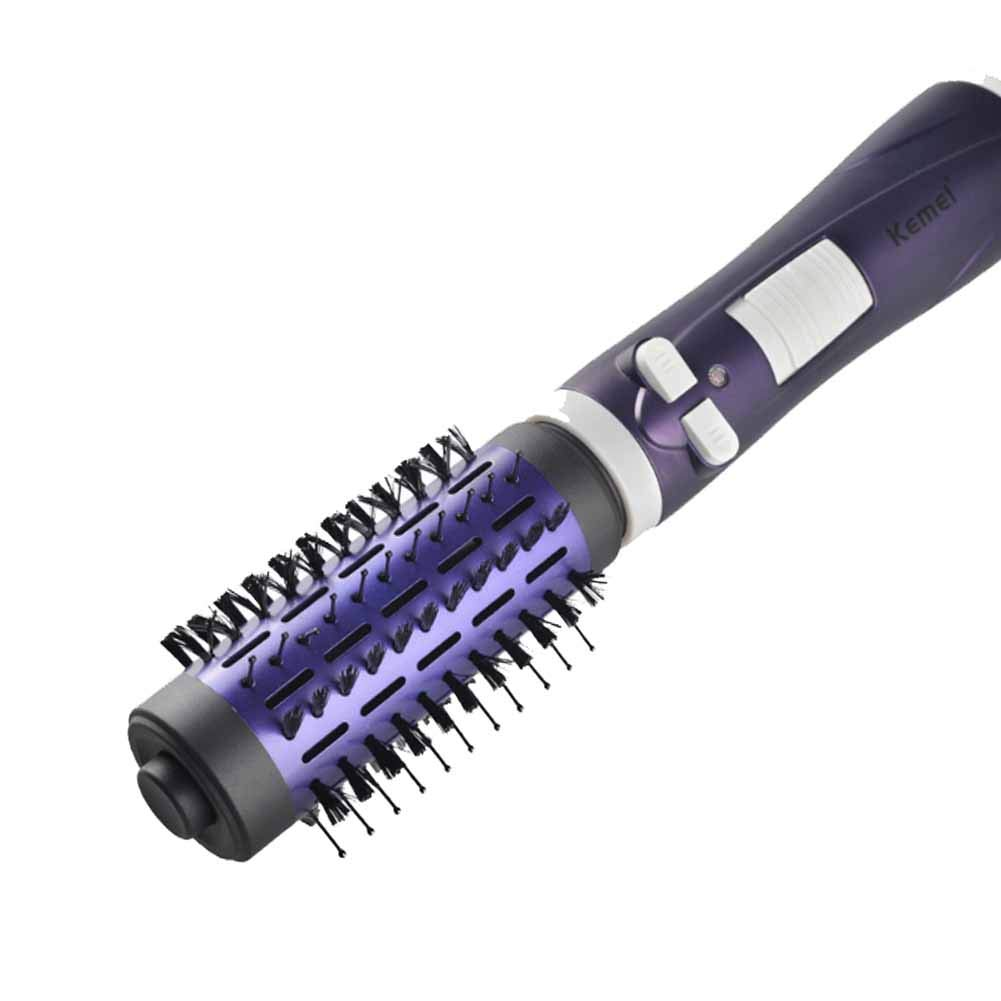 2 In 1 One Step Ionic Hair Dryer Brush, Replaceable Modeling Brush,Curling Tong For Short And Long Hair Coating With Nano Ceramic Tourmaline Anti-Scald Curler Brush LU KU