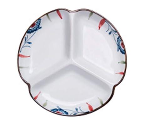 Happiness Tableware LIXUE Tres Platos caseros creativos de ...