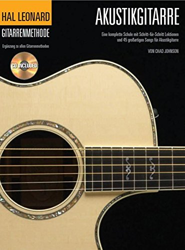 Hal Leonard Gitarrenmethode -Für Akustikgitarre- (Book & CD): Noten, Lehrmaterial