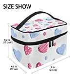 U LIFE Valentines Day Birthday Sugar Heart Love You Summer Spring Wedding Travel Cosmetic Makeup Toiletry Storage Bags Boxes Cases Organizers