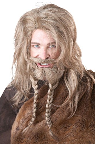 8eighteen Viking Warrior Costume Wig and Beard Dirty Blonde (Mermaid Wig In Blonde)