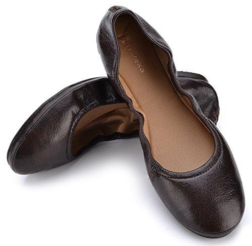 Eureka USA Women's Audrey Leather Ballet Flat