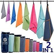 Microfiber Sport Travel Towel Set-(Size:S, M, L, XL, XXL)- Quick Dry, Super Absorbent, Ultra Compact Towels-Fi