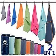 Microfiber Sport Travel Towel Set-(Size:S, M, L, XL, XXL)- Quick Dry, Super Absorbent, Ultra Compact Towels-Fit for…
