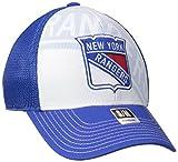 NHL New York Rangers Men's Face-Off Formation Structured Flex Cap, Large/X-Large, Blue