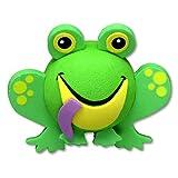 Tenna Tops - For Thick Antenna Style: Green Frog Car Antenna Topper - Antenna Ball - Rear View Mirror Dangler - Auto Accessory
