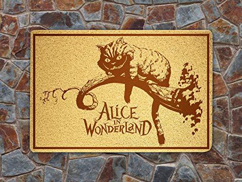 SOFIshop Alice in Wonderland Cat - Door Mat Doormat Sweet Home Supplies Décor Accessories Unique Gift Handmade Present Idea Original Design Commercial Outside Inside Personalized Quotes Exterior]()
