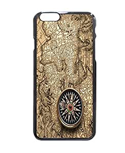 Simple and Fashion Design Print World Map with a Compass Art Picture Printed Hard Customized Case Cover , iphone 5s Case Cover, Protection Quique Cover, Perfect fit, Show your own personalized phone Case for iphone 5s