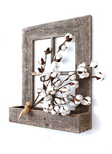 BarnwoodUSA Rustic Window Planter Frame - 100% Reclaimed
