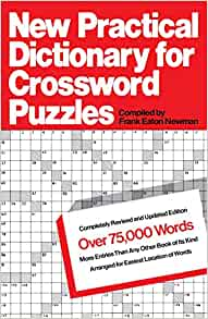 Crossword Puzzle Dictionary by Andrew Swanfeldt (1995, Paperback, Revised)