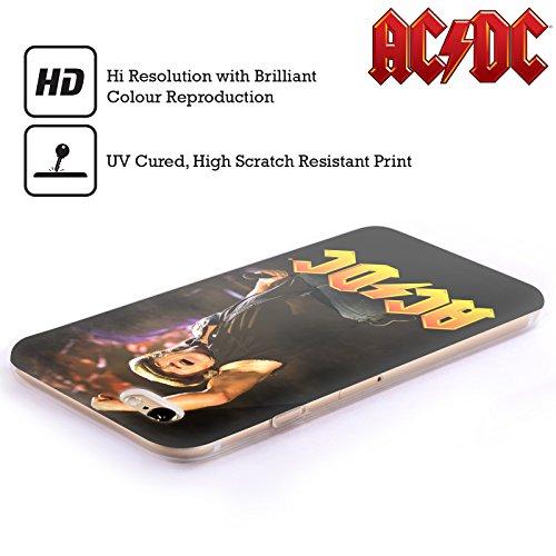 Officiel AC/DC ACDC Brian Johnson Solo Étui Coque en Gel molle pour Apple iPhone 5 / 5s / SE