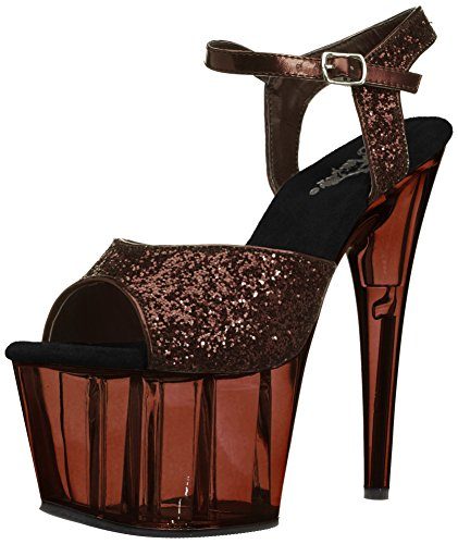 Pleaser Plataforma Mujer Bronze Glitter/Light Bronze Tinted