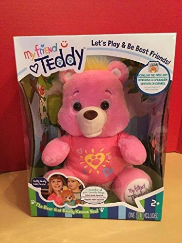 Genesis Toys: My Friend Teddy/Freddy Talking Smart Bear Plush Stuffed Animal - Pink Color