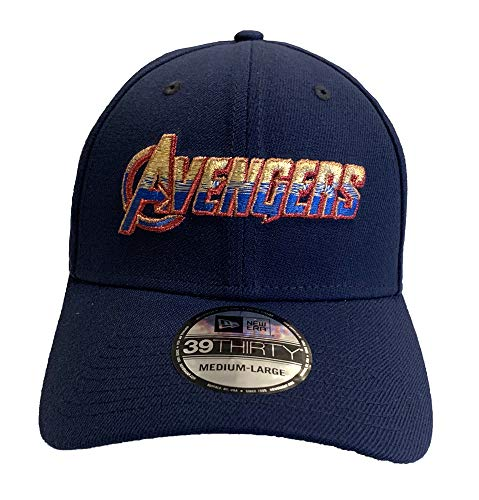 New Era Avengers End Game Logo Marvel 39Thirty Fitted Hat - Medium/Large Blue