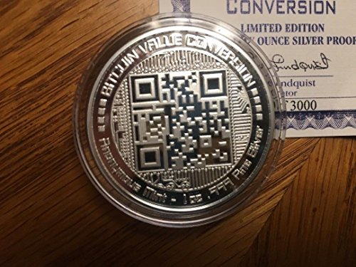 2018 Anonymous Mint 1 oz Pure Silver Proof Round BITCOIN-VALUE-CONVE Collection Mint (Pure Silver Proof Coin)