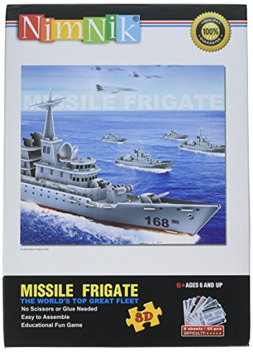 NimNik Ships Frigate 3D Puzzles for Kids Educational Fun Construction 3d Jigsaw Puzzle for Adults, Boys, Girls and Teenagers Ideas - 48 pieces.