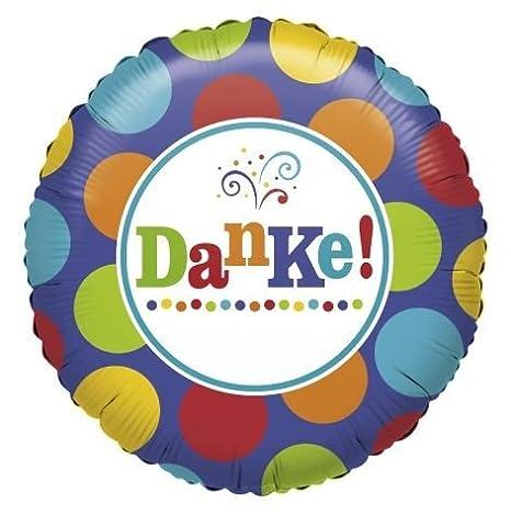 1 pieza 'Danke' – Caseta de globo redondo, 45 cm de diámetro