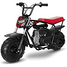 Monster Moto MM-B105-RBS Black/Red Gas Mini Bike with Front Suspension (105cc/3.5Hp Classic 105cc)
