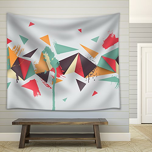 Vector Vector Background Illustration of Abstract Texture with Triangles Fabric Wall Tapestry
