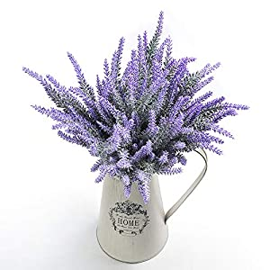 Veryhome Artificial Lavender Flowers Bouquet Fake Lavender Plant for Wedding Home Garden Decor 8 Bundles 11