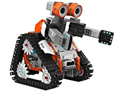 Jimu Robot is the only Robotic Building System that anyone can easily BUILD into specific models or your own creations, PROGRAM and CODE to move with any smart device, and GET SMARTER with STEM skills that will help you in school and life. Ji...