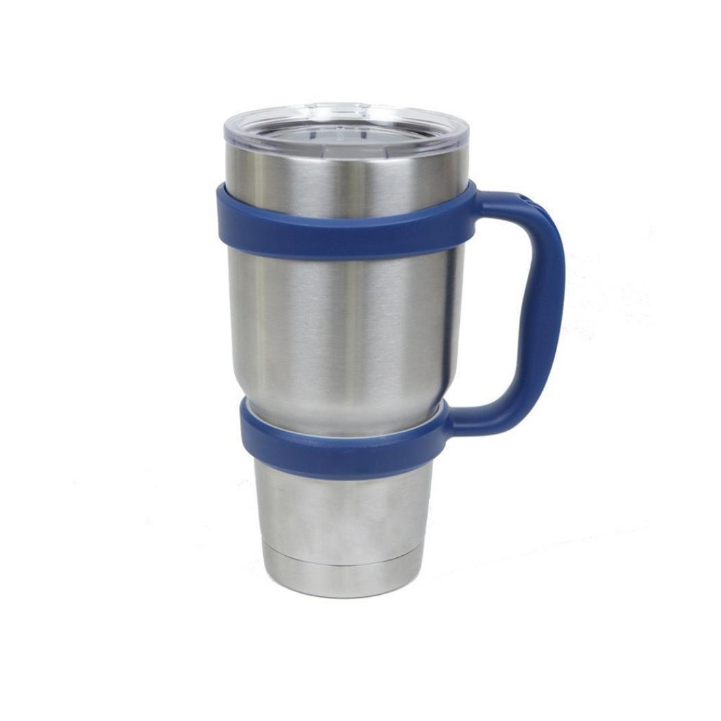 30 oz Tumbler Mug Handle - 30 Oz Stainless Steel Insulated Tumbler Mug Handle (Dark Blue)