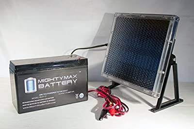 12V 9AH Battery For ESR750EX Scooter + 12V Solar Panel Charger - Mighty Max Battery brand product