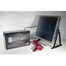 12V 9AH Battery for Motorola 612 ONT + 12V Solar Panel Charger - Mighty Max Battery brand product