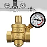 3 4 in water pressure regulator - TOLOVI Adjustable Water Pressure Reducing Valve Heavy Duty DN20 NPT 3/439;39; Brass Regulator Valve with Gauge Meter