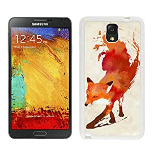 Watercolor Fox Animal Oil Painting White Customize Samsung Galaxy Note 3 Cover Case