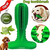 Dog Toothbrush Chew Toy, Jresboen [Upgraded] Dog Toothbrush Stick, Safe Natural & Long Lasting Rubber Dog Teeth Cleaning Toys Dental Care Chew Bones Stick Toys for Small Medium Large Dog Puppy (Green)