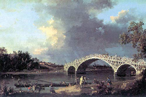 - ArtParisienne Old Walton Bridge Over The Thames Canaletto 16x24-inch Wall Decal