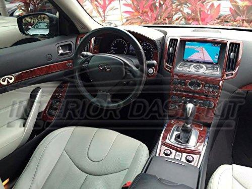 INFINITI G37 G-37 G 37 2 DOOR COUPE INTERIOR BURL WOOD DASH TRIM KIT SET 2010 2011 2012 2013 (G37s Coupe)