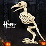 Yiping Brand New and Bird Skeleton Halloween Decoration,Halloween Bone Skeleton Raven Plastic Animal Skeleton Horror Decoration Prop Bird Crow Skeleton