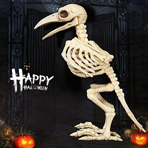 Wanrane Bird Skeleton Halloween Decoration,Halloween Bone Skeleton Raven Plastic Animal Skeleton Horror Decoration Prop Bird Crow Skeleton by Wanrane