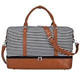 Best Carry On Bag For Women - S-ZONE Women Canvas Weekender Bag Overnight Carryon Duffel Review