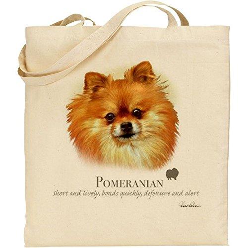 Howard Robinson Pomeranian Dog cotone Borsa