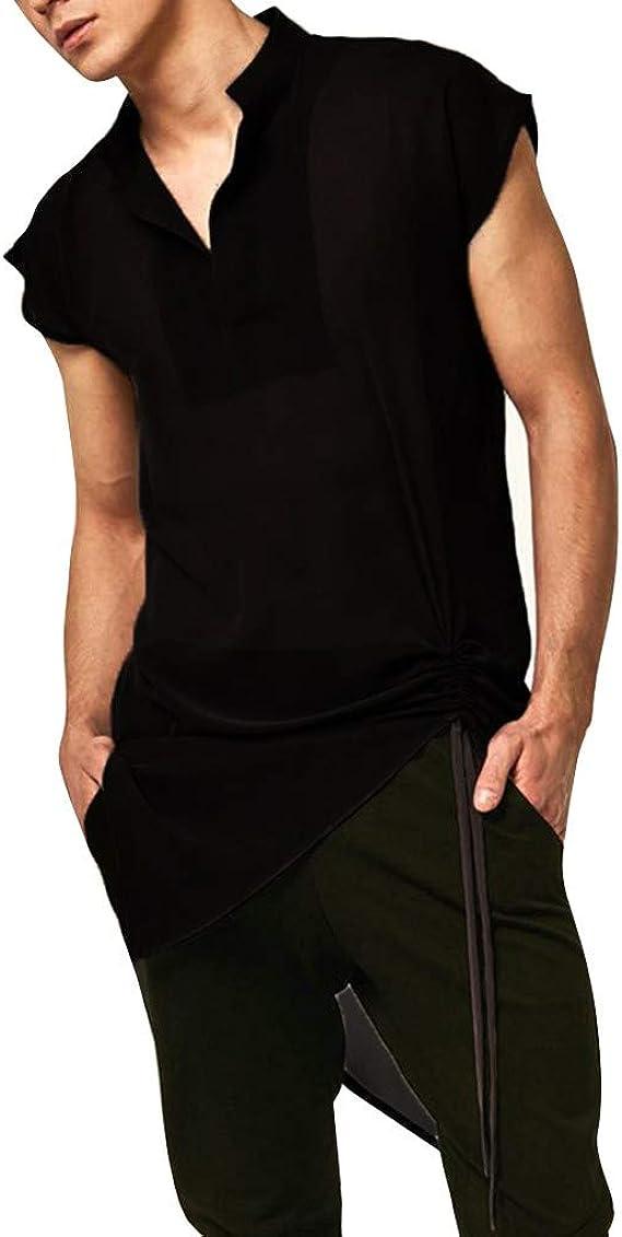 HCFKJ Camisetas Hombre Camisa Medieval Negra para Hombre Top Disfraz Disfraz Vintage Camiseta Blusa Top: Amazon.es: Ropa y accesorios