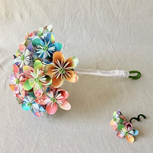 Amazon paper flower bridal bouquet and matching boutonniere paper flower bridal bouquet and matching boutonniere mightylinksfo