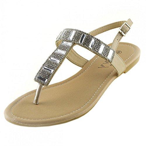 Damen-Mode-Sommer-Sandalen-Classic-Party-Looks Nackt