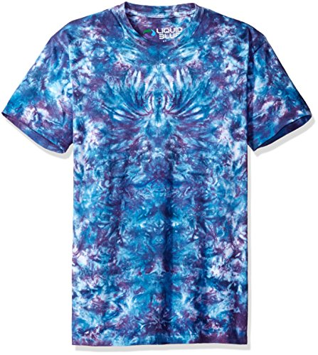 azy Blue Krinkle Tie Dye Short Sleeve T-Shirt, Tie Dye/Multi, Large (Hippie Tie Dye Shirts)