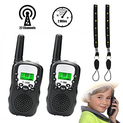 Fantastic Deal! Walkie Talkies for Kids, Hizek 22 Channel Walkie Talkies 2 Way Radio 2 Miles FRS/GMR...