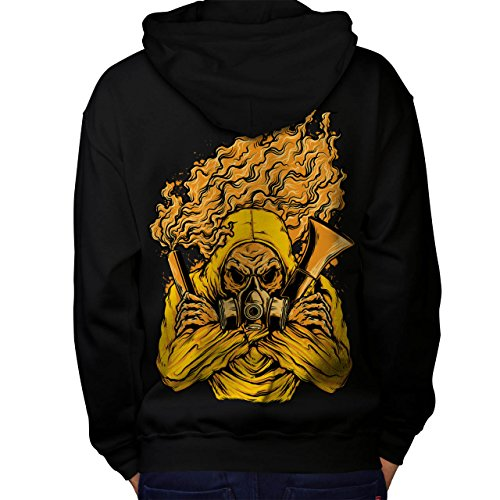 Insane Asylum Mask (Wellcoda Toxic Gas Mask Horror Men M Hoodie Back)