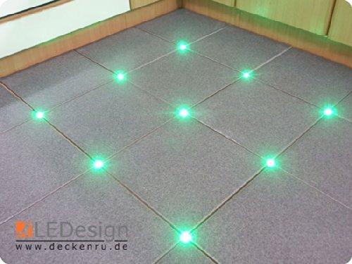 Piastrelle 12 x led 3 mm fuge luce illuminazione con trasformatore