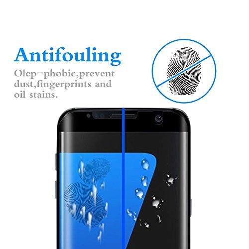 Galaxy S7 Edge Screen Protector,[2-Pack] Galaxy S7 Edge Tempered Glass,DeFitch Ultra HD Clear Anti-Bubble Glass Screen Protector Compatible with Samsung Galaxy S7 Edge by DeFitch (Image #3)