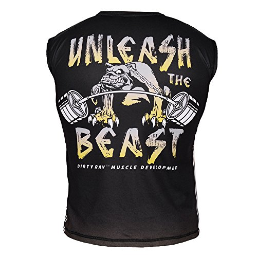 Unleash The Beast Gym Crossfit Technical Men's Sleeveless Sublimated T-Shirt KT3