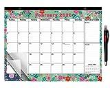 2020-2021 Large Monthly Desk Pad Calendar Planner Academic, Floral Design with Magnets for Fridge, Desktop January 2020 to June 2021 Wall Calendar 17.3' x 13.2''